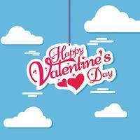 Happy Valentinstag Schriftzug Einladung Kartendesign