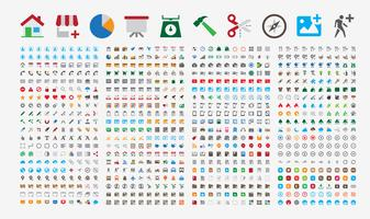 800 Premium Icons. Round corners. Flat colors.