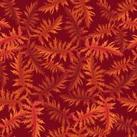 Floral pattern. Leaves seamless background. Ornamental garden vector