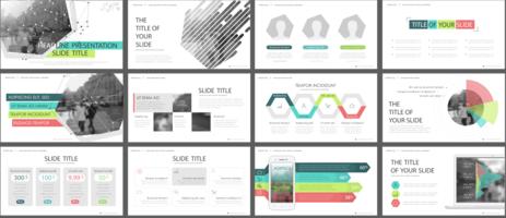 Modelli di diapositive di presentazione aziendale - vettore
