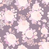 Floral seamless pattern. Flower background. Garden texture vector
