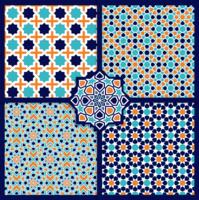 Islamisk mönster design, kakel design - vektor