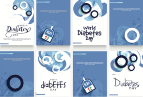 World diabetes day graphics - vector