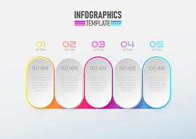 Infographic element 3d with circle option 1 to 5 vector.