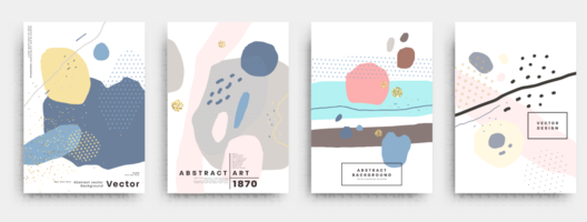 Abstract book cover design template - vector
