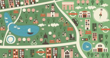 Cityscape grafische vector