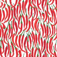 Pepper seamless pattern. Hot spice food ingredient vegetable background