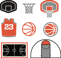 Basketbalpictogrammen - vector