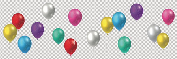 Flying balloons colorful - vector