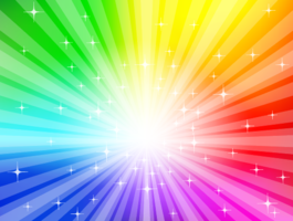 Rainbow background - vector