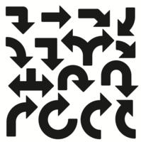 vetores de setas direcionais pontiagudas