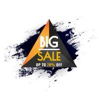 Cartel de gran venta abstracto, diseño de plantilla de banner de venta para web y tamaño móvil. vector