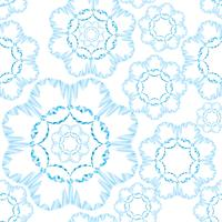 Abstract floral geometric ornament. Seamless Line pattern