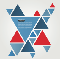 Abstract triangular graphics - vector