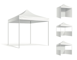 Utställning tält mockup - vektor