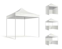 Tentoonstelling tent mockup - vector
