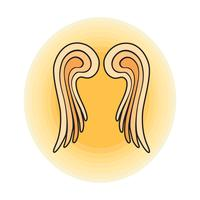 Wings. Angel sign outline vector illustration