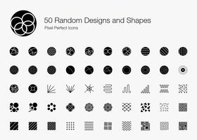 50 zufällige Designs und Formen Pixel Perfect Icons (Filled Style).