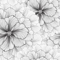 Floral background. Flower pattern. Flourish seamless texture vector