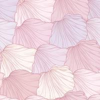 Floral seamless pattern, engraved flower petals. Flourish texture