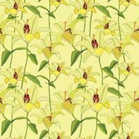 Floral pattern. Flower seamless background. Flourish ornamental garden