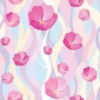 Patrón floral sin fisuras Fondo de la flor. Florecer la textura del jardín.