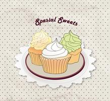 Cake. Cafe Menu Background. Bakery Label. Sweet, Dessert Poster
