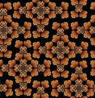 Swirl floral seamless pattern. Ornamental background in russian style.