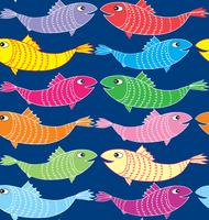 Fish seamless pattern. Underwater marine background