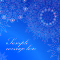 Snow greeting card pattern. Christmas Winter holiday background