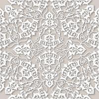 Ornamento de la línea floral árabe remolino. Modelo inconsútil de la flor oriental