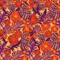 Blommigt sömlöst mönster. Blomma bakgrund. Blommig trädgård