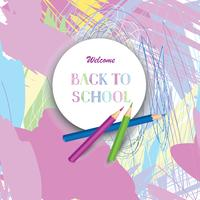 Back to school background. Supplies over chaotic line pattern vector