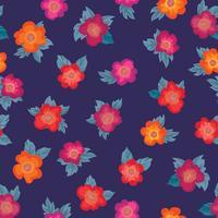 Nahtlose Blümchenmuster Blumen Hintergrund Gartenverzierung