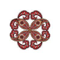 Arabic ornament background Oriental ethnic mandala amulet.