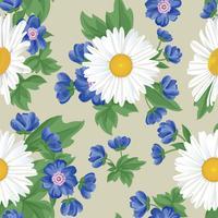 Floral seamless pattern. Flower background. Flourish garden vector
