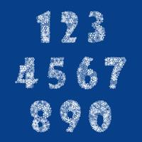 Numbers set from snowflake. See also background