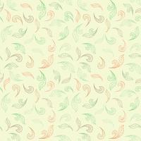 Blommigt sömlöst mönster. Blad bakgrund. Blommig trädgårdsteknik