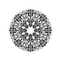 Ornamental round floral pattern. Mandala oriental flower ornament