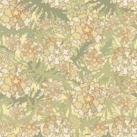 Floral pattern. Flowers, leaves seamless background. Nature texture