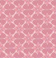 Abstract oriental floral seamless pattern. Flower geometric ornament