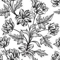 Fondo floral Patrón de flores. Flourish textura sin fisuras