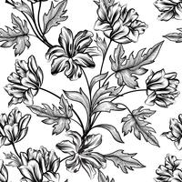 Florale achtergrond. Bloem patroon. Bloei naadloze textuur