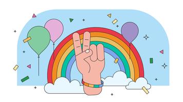 pride parade vektor