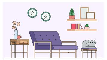 Vector de diseño de sala