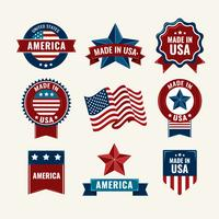 Vintage American Labels  vector