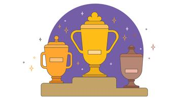 Trophies and Posts Vector