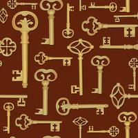 Vintage key seamless background. Close the door tile pattern