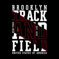 NY Brooklyn Typography Design, tee-shirt pour T-shirt Graphic