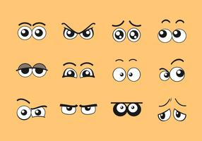 cartoon ogen vector set